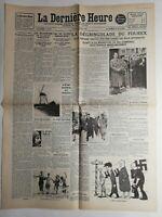 N241 La Une Du Journal La dernière heure 12 avril 1937 la dégringolade du Fourex