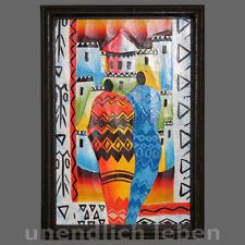 Holzbild Schnitzbild HARMONIE Mann + Frau Afika afrikanisches Wand Bild Wandbild