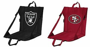 NFL Premium Adjustable Stadium Seat 49ers Raiders foam padding back support