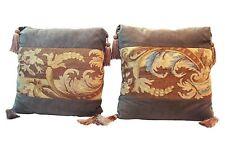 French Aubusson Textile Pillows, Pair