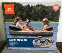 Ozark Trail Rapid Rider III Pool Beach Float Water Raft Lake Orange Gray