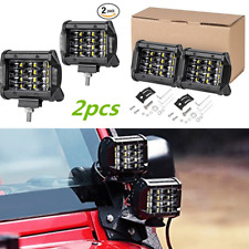 4 inch 72W Quad Row LED Work Light Flood Combo For Off Road Truck Boat SUV