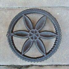 Antique 19th C Cast Iron Pennsylvania Pinwheel Hex Sign Trivet