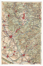 AK mit Landkarte, Südharz mit Clausthal-Zellerf., Osterode und Herzberg, um 1923