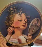 "Knowles Collectors Plate Norman Rockwell' ""Making Believe in the Mirror"" COA Box"