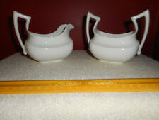 T&V Limoges Creamer & Sugar Bowl White Porcelain TRESSEMANES & VOGT France