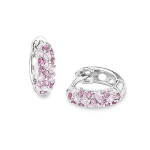 Prinzessin Lillifee Mädchen Ohrringe Zirkonia Creolen rosa lila pink Silber 925
