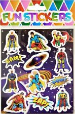 10 sheets Superhero Stickers Party Bags Filler Toy Goody gift kidS Boys Girls
