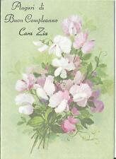 Italian Birthday Greeting card  cara Zia Aunt 5029-7 Compleanno Tante