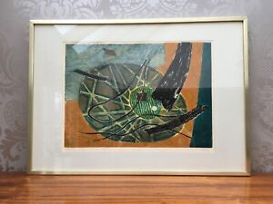 """""""Intervention"""" - abstract etching framed print by Henri Goetz"""