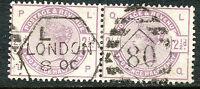 GB 1884 QV 2 1/2 D purple-violet ('LP-LQ') VFU MAJOR VARIETY COLOR MISSING