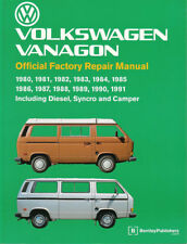 VANAGON SHOP MANUAL SERVICE REPAIR VOLKSWAGEN BENTLEY BOOK CAMPER WESTFALIA