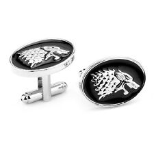 Free Shipping Game of thrones inspired House of Stark Wolf Cufflinks