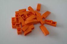 20 Lego Dachsteine Schrägsteine Rundsteine 1x3 orange NEU 50950
