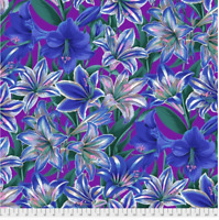 Amarylis Blue by Philip Jacobs/ Kaffe Fassett cotton Quilting Fabric BTY