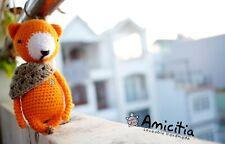 Amicitia - Handmade Amigurumi Crocheted Stuffed Animal Toy - Fox