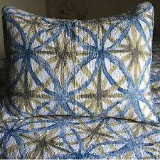 Deluxe Bedspread Set in Modern Design Patterns For Apartment Living Double Blue