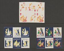 USA Cinderella stamp 3-21-21 Charity Christmas TB MNH Gum- 3 pieces- blk6 - 1961