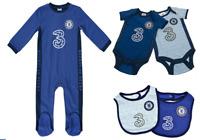 Chelsea FC Baby Clothes 2020/21 Sleepsuit Bodysuit Babygrow Playsuit Bib Xmas
