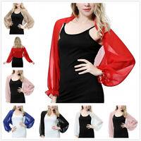 Chiffon Women Beach Print Arm Cover Shrug Summer UV Protection Tops Shawl Wraps
