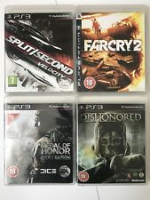 PS3 Game Bundle-Split Second Verlocity+Far Cry 2+Dishonored+Medal Of Honor(725)