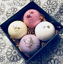 Bath Bomb Gift Set · All Natural · Jasmine, Chamomile, Rose & Lavende