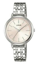 Lorus Ladies Stainless Steel Bracelet Watch Pink Dial RG297PX9