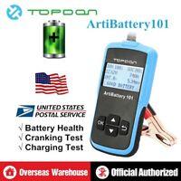 TOPDON ArtiBattery101 Auto Battery Tester Analyzer Cranking Charging System 12V