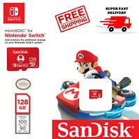 SanDisk 128 GB Nintendo Switch micro SD XC Card Flash Storage Memory USA Genuine