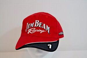 Jim Beam Racing #7 Baseball Cap Red Robby Gordon Motorsports OSFM