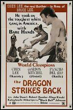The Dragon Strikes Back CHEN LEE Original 1973 One Sheet  MOVIE POSTER 27 x 41