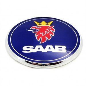 Saab Front Bonnet Hood Badge Emblem Blue 93 9-3 95 9-5 2003-2010 BRAND NEW 3 pin