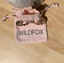 Wildfox Rose Gold Crystal Ring In Original Pouch