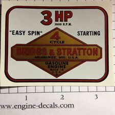 Briggs & Stratton 3-hp Shroud Decal Vinyl Easy Apply 60s & 70s