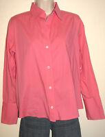 Banana Republic Women's Long Sleeve Button Pink Stretch Cotton Shirt Size Medium