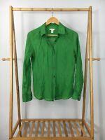 J. Crew Women's Cotton Silk Blend Lawn Twisted-Placket Button Front Shirt Sz 4