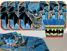 Batman DC Comics Party Tableware Pack for 16 Kids Birthday Decorations Superhero