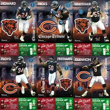 Complete Set of 6 Chicago Bears 2017 NFL Fathead Tradeables