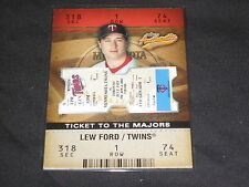 LEW FORD TWINS 2003 FLEER #114 TICKET TO THE MAJORS CERTIFIED CARD #50/1850 RARE