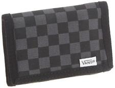 Vans Off The Wall Men's The Slipped Trifold Checkerboard Wallet - Black/Gunmetal