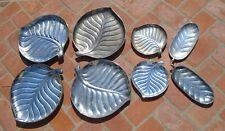 Trays Platters Leaf Shaped International Silver Co Silverplate Hawaiian Luau