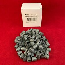 Qty 100: Xtra Seal Tire Valve Stem Gray Plastic Caps Trackable Ship Usa Seller