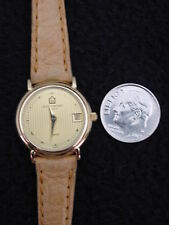 Vintage French Michel Herbelin Ladies Watch Gold Leather Swiss 7 Jewel