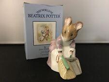 Beswick Beatrix Potter ''Hunca Munca Sweeping'' Figurine Last Run USC RD8873