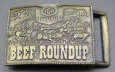 IGA Tablerite Beef Roundup Grocery Store Vintage Belt Buckle