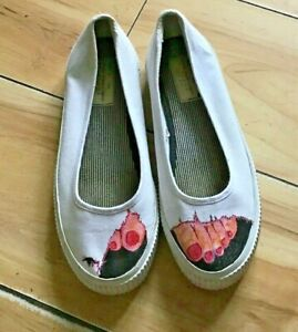 Pair Of Hand Painted Shoes size 6.5