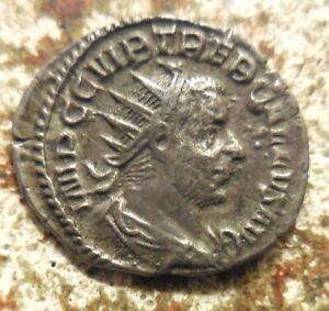 Trebonianus Gallus (251-253 AD). AR Antoninianus (22 mm, 3.29 g), Rome, Pietas