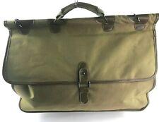 Calvin Klein Canvas Carry All Bag Olive Green Handle w/ Dowel Satchel Pockets