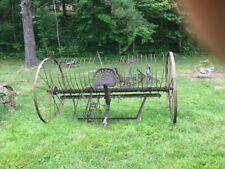 Antique Vintage Old Mule Horse Farm Hay Rake Large Agric Pick Up Mckee Ky 40447