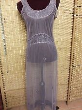 LADIES TREE OF LIFE MAUVE MESH MAXI DRESS FIT APPROX 8 - 10